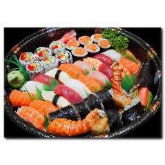 Sushi Karnavalı Temalı Kanvas Tablo