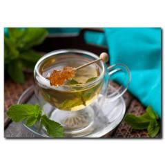 Bitki Çayı Temalı Kanvas Tablo