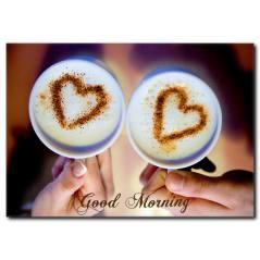 Günaydın Temalı Kahve Fincanları Kanvas Tablo