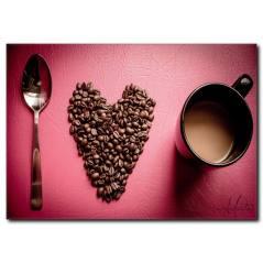 Kahve Çekirdekleri Temalı Kanvas Tablo