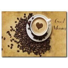 Güne Kahve İle Başlamak İyi Fikirdir Kanvas Tablo