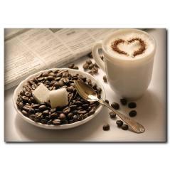 Kahve Saati Kanvas Tablo
