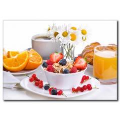 Portakal Suyu Eşliğinde Kahvaltı Kanvas Tablo
