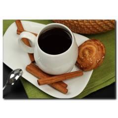 Tarçınlı Kahve Detaylı Kanvas Tablo