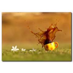 Kahve Temalı Kanvas Tablo
