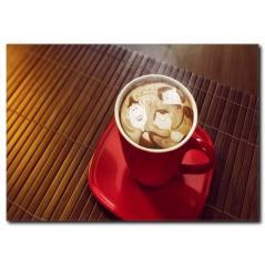 Kahve Aşkı Temalı Kanvas Tablo