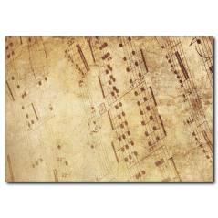 Eski Müzik Defteri Kanvas Tablo