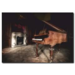 Nostalji Piyano Manzaralı Tablo