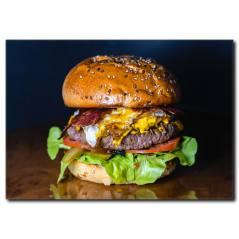 Enfes Hamburger Temalı Kanvas Tablo