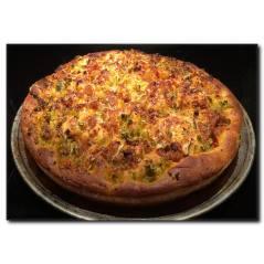 Kalın Kenarlı Pizza Kanvas Tablo