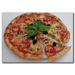 Mısırlı Pizza Kanvas Tablo