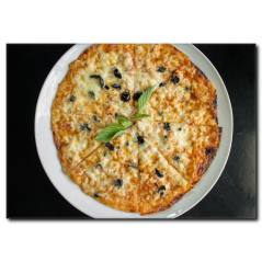 Çok Peynirli Pizza Kanvas Tablo