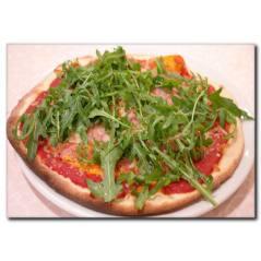 Yeşillik Detaylı Pizza Kanvas Tablo