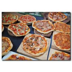 Her Çeşit Pizza Temalı Kanvas Tablo