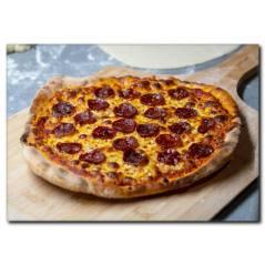 Sucuklu Pizza Kanvas Tablo