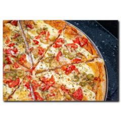 Bol Peynirli Pizza Temalı Kanvas Tablo