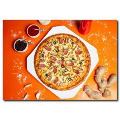 Biberli Karışık Pizza Kanvas Tablo