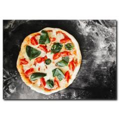 Ispanaklı Pizza Kanvas Tablo