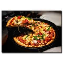 Karışık Pizza Temalı Kanvas Tablo