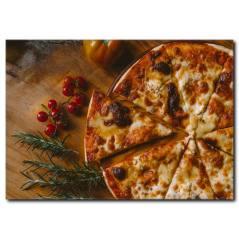 Peynirli Pizza Kanvas Tablo