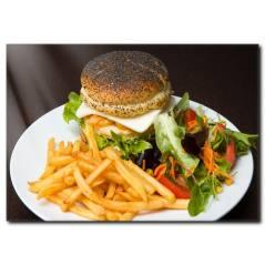 Hamburger Tabağı Kanvas Tablo