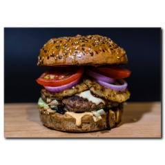 Soğanlı Hamburger Kanvas Tablo