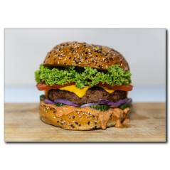 Bol Etli Hamburger Kanvas Tablo