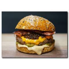 Erimiş Peynirli Hamburger Duvar Tablosu