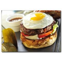 Hamburger Keyfi Temalı Kanvas Tablo
