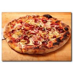 Çıtır Pizza Temalı Kanvas Tablo