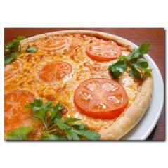 Domatesli Pizza Temalı Kanvas Tablo