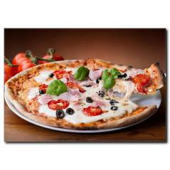 İnce Hamur Pizza Temalı Kanvas Tablo