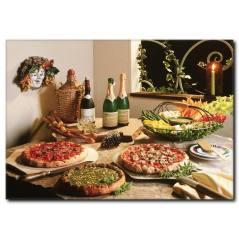 Sebzeli Pizzalar Temalı Kanvas Tablo