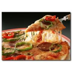 Dilimli Pizza Kanvas Tablo