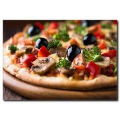 Mantarlı Pizza Temalı Kanvas Tablo