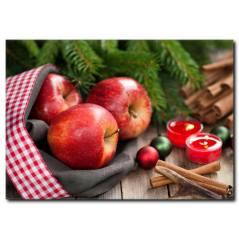 Kırmızı Elmalar Temalı Kanvas Tablo