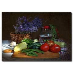 Sebzelerin Dünyası Temalı Kanvas Tablo