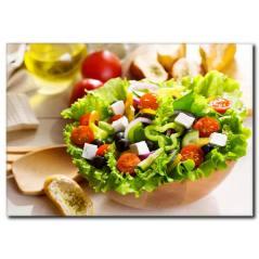 Çanak Salata Temalı Kanvas Tablo