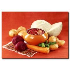 Sebze Çorbası Temalı Kanvas Tablo