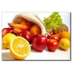Sağlıklı Besinler Temalı Kanvas Tablo