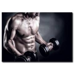 Ağırlık Çalışan Sporcu Erkek Kanvas Tablo