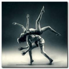 Dans ile Sporun Birleşimi Kanvas Tablo