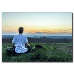 Doğada Yoga ve Relaxing Kanvas Tablo
