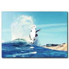 Dalgalarda Sörf Temalı Kanvas Tablo