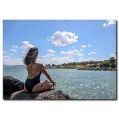 Harika Bir Manzarada Yoga Kanvas Tablo