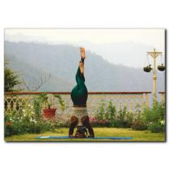 Esnek Vücutlu Yoga Yapan Kadın Kanvas Tablo