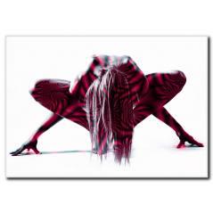 Yoga ve Esnek Vücutlu Kadın Kanvas Tablo