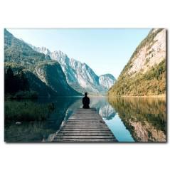 Doğada Yoga Temalı Relaxing Kanvas Tablo
