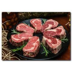 Mangalın Yolunu Gözleyen Biftekler Kanvas Tablo