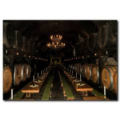Şarap Mahzeni ve Şarap Fıçıları Kanvas Tablo